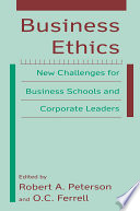 Business Ethics New Challenges For Business Schools And Corporate Leaders