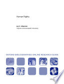 Human Rights  Oxford Bibliographies Online Research Guide