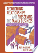 download ebook reconciling relationships and preserving the family business pdf epub