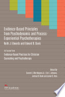 Evidence Based Principles From Psychodynamic And Process Experiential Psychotherapies