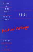 Hegel: Political Writings