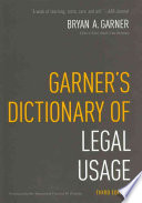 Garner s Dictionary of Legal Usage