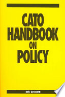 Cato Handbook on Policy