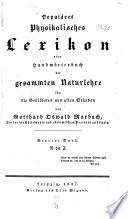 Popul  res physikalisches lexikon  oder  Handw  rterbuch der gesammten Naturlehre f  r die Gebildeten aus allen St  nden