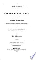 The Works Of Cowper And Thomson : ...