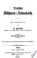 Deutscher Bühnenalmanach
