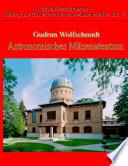 Astronomisches Mäzenatentum