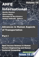 Advances in Human Aspects of Transportation  Part I