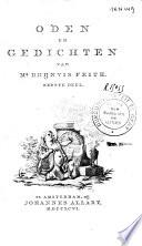 Oden En Gedichten Van Mr Rhijnvis Feith