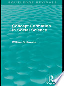Concept Formation in Social Science  Routledge Revivals