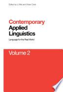 Contemporary Applied Linguistics Volume 2