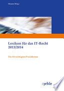 Lexikon f  r das IT Recht 2013 2014