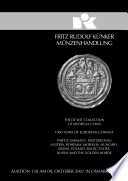 Künker Auktion 130 - The De Wit Collection of Medieval Coins, 1000 Years of European Coinage, Part II: Germany, Switzerland, Austria, Bohemia, Moravia, Hungary, Silesia, Poland, Baltic States, Russia and the golden Horde