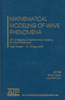 Mathematical modeling of wave phenomena