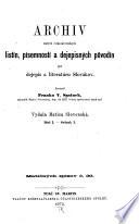 Archiv starých česko-slovenských listín
