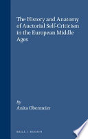 download ebook the history and anatomy of auctorial self-criticism in the european middle ages pdf epub