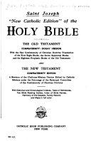 Saint Joseph  New Catholic Edition  of the Holy Bible