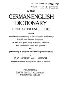A New German English Dictionary for General Use