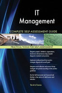 It Management Complete Self-Assessment Guide