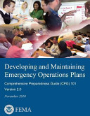 Developing And Maintaining Emergency Operations Plans Comprehensive Preparedness Guide Cpg 101 Version 2 0