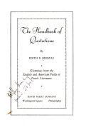 The Handbook of Quotations