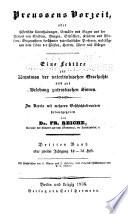 Preussens vorzeit, oder, Historische unterhaltungen, gemälde und sagen aus der vorzeit ...
