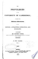 The privileges of the University of Cambridge