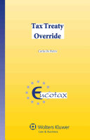 Tax Treaty Override