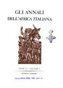 Gli annali dell Africa italiana