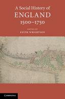 A Social History Of England 1500 1750