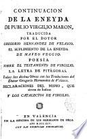 Continuación de la Eneyda de Publio Virgilio Marón
