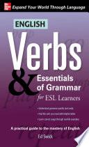 English Verbs   Essentials of Grammar for ESL Learners