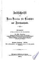Zeitschrift des Harz Vereins f  r Geschichte und Alterthumskunde