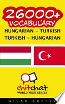 26000  Hungarian   Turkish Turkish   Hungarian Vocabulary