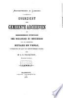Overzicht der gemeentearchieven en beredeneerde inventaris der oorkonden en bescheiden van de gemeenten Sittard en Venlo