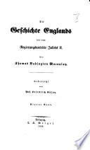 Die Geschichte Englands seit dem Regierungsantritte Jacobs II.