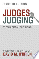 Judges on Judging M O Brien S Judges On Judging Offers Insights Into