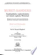 Muret Sanders Encyclopedic English German and German English Dictionary