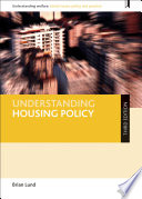 Understanding housing policy  third edition