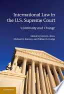 International Law in the U S  Supreme Court