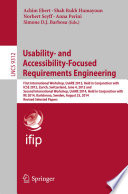 Usability  and Accessibility Focused Requirements Engineering