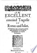 An Excellent Conceited Tragedie of Romeo and Iuliet