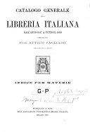 Catalogo generale della libreria italiana dall'anno 1847 a tutto il 1899