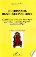 illustration du livre Dictionnaire de science politique