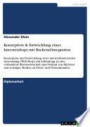 Konzeption & Entwicklung eines Internetshops mit Backend-Integration