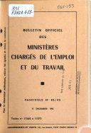Bulletin officiel des Minist  res charg  s de l emploi et du travail