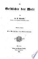 Die geschichte der welt: th. Die geschichte des alterthums. 1878