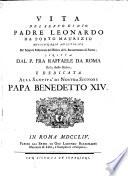 Vita Del Servo Di Dio Padre Leonardo Da Porto Maurizio