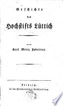 Geschichte des Hochstifts Luttich