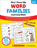 Now I Know My Word Families Learning Mats